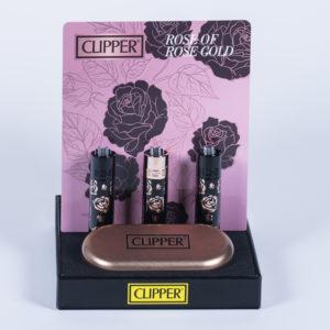 clipper rose gold metal